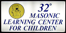 32 degree learning center sign